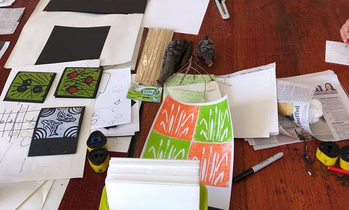 Free Printmaking Workshops at Jigamy Farm